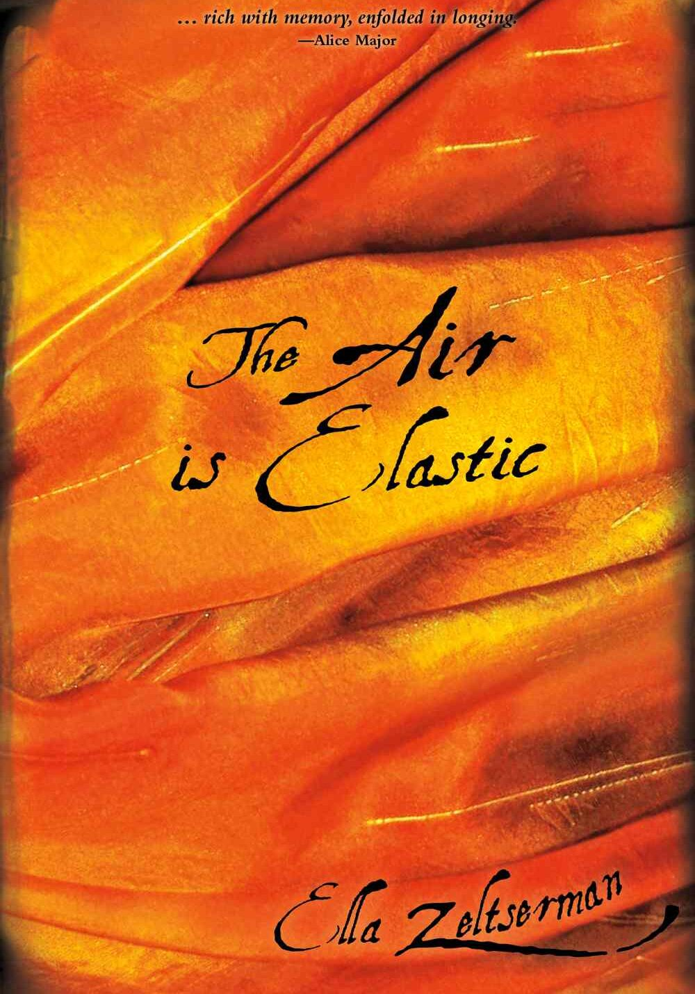 Cover of The Air is Elastic, poetry collection by Ella Zeltserman